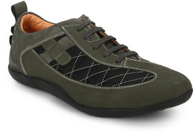 Red Chief Men'S Green Casual Leather Shoe Rc3456 025