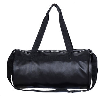 Dee Mannequin Trendy Black Leather Rite Gym Bag