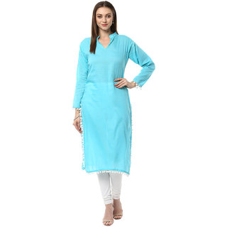 Ziyaa Casual Wear Light Blue Coloured Kurta