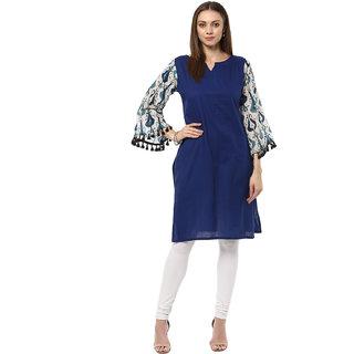 Ziyaa Casual Wear Blue Coloured Kurta