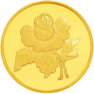Rose 0.5 grams 916 22 kt Gold Coin