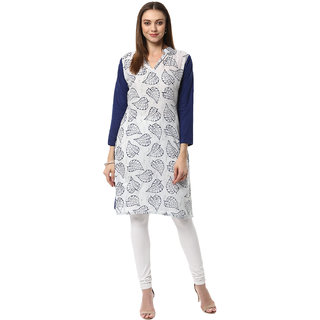 Ziyaa Casual Wear Blue Coloured Kurta