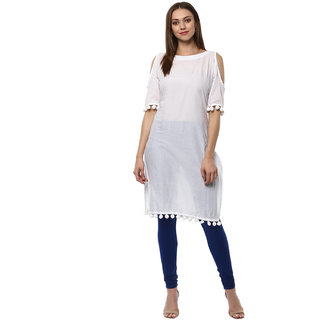 Ziyaa Casual Wear White Coloured Kurta