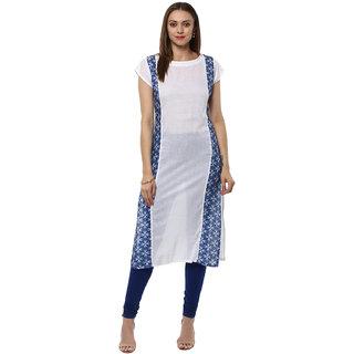 Ziyaa Casual Wear White Coloured Kurta