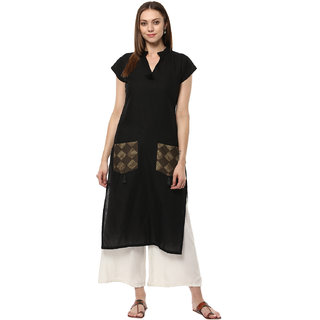 Ziyaa Casual Wear Black Coloured Kurta