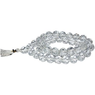 Valntine Natural Rock Crystal Quartz Clear  Rosary Japa Ornament Mala