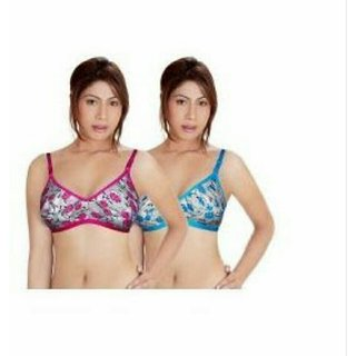 a5454e06b4 Buy Pack Of 2 Printed Non Padded Bra Combo (Color and Print may ...