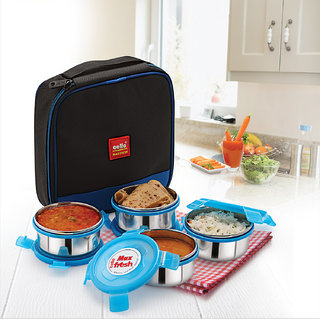 Cello Max Fresh Supremo Lunch Box Blue