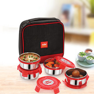 Cello Max Fresh Supremo Lunch Box Red