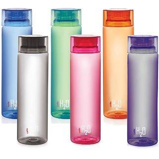 Cello H2O Bottle 1000 Ml Set Of 6Pcs Assorted