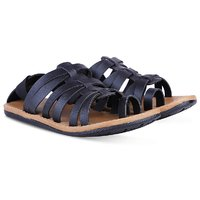 Butchi Men's Black Synthetic Sandals