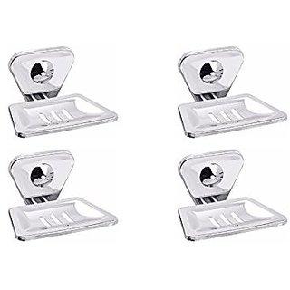 Aiken Stainless Steel Soap Dish Bathroom Accessories Set of 4 Piece