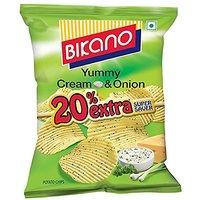 Bikano Chips-Cream onion 60 gm (Pack of 6)