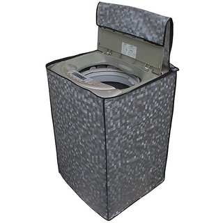 Glassiano Grey Colored Washing Machine Cover For Haier HWM58-020 Fully Automatic Top Load 5.8 Kg