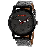 Kajaru KJR-3 Black Slim Analog Watches for Men's and Boy's