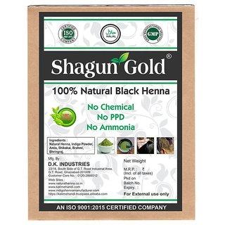 Shagun Gold Hair Colour Powder Black Henna 200g