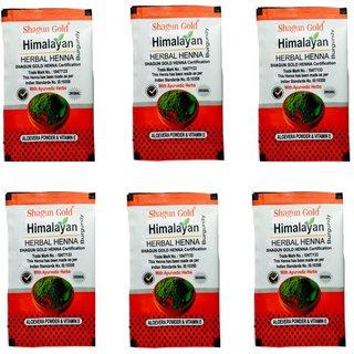 Shagun Gold Himalayan Burgundy Herbal Heena 20g Pack of 12