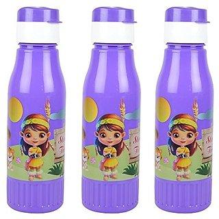 Freshware Deluxe 500 ML Food Grade Plastic Water Bottle Set of 3