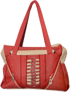 Foax Fashion Ladies Hand-Held Bag (Red)
