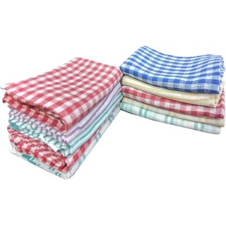 Aanand Set of 10 Cotton Kitchen Towels & Dusters