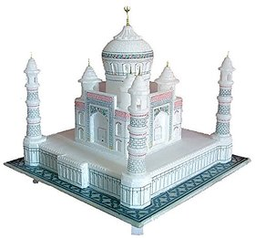 KGN  9 Taj Mahal Made of Pure White Marble - Perfect Finishing and Beautifully Crafted