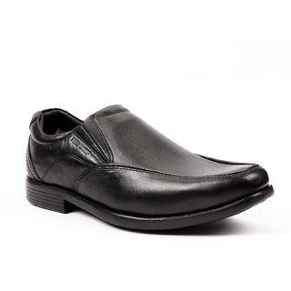 Red Chief Black Leather Formal Shoes