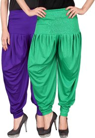 Culture the Dignity Blue,Green Lycra Dhoti Pants