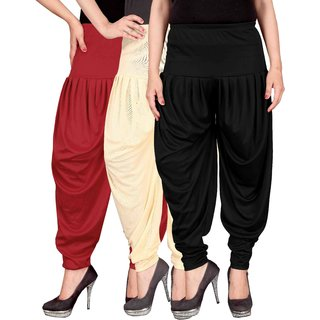 Culture the Dignity Red,Cream,Black Lycra Dhoti Pants