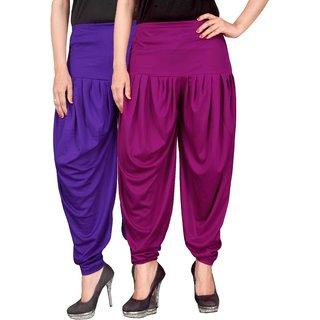 Culture the Dignity Blue,Purple Lycra Dhoti Pants