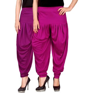 Culture the Dignity Purple,Pink Lycra Dhoti Pants