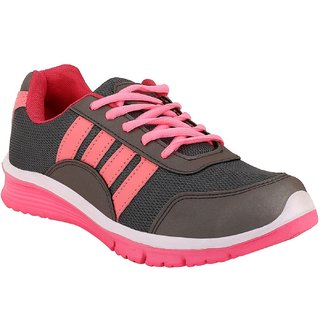 Chevit Womens Xpose Stylish 420 Baby Pink Gray Running Shoes (Joggers and Running shoes)