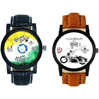 Royal Bullet And Young India Grow India SCK Men's Combo Wrist Watch