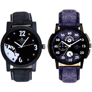 Latest Blue Round Dial  And Goal Achived Motivated SCK Men's Combo Wrist Watch