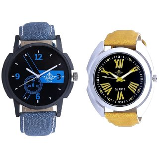Attractive Blue Dial And Roman Digits Special Design SCK Men's Combo Wrist Watch