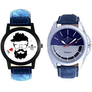 I Love Rock And Stylish Smile Dial SCK Combo Analogue Wrist Watch