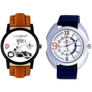 Royal Bullet And Blue Sport Leather Strap SCK Combo Gallery Wrist Watch