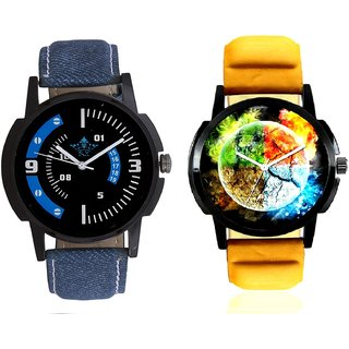 Stylish 3D Designer And Awesome Blue Sport Dial SCK Combo Analogue Wrist Watch