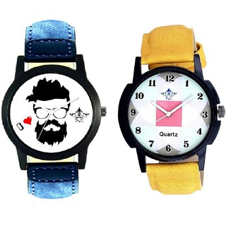 I Love Rock And Luxury Square Design SCK Analogue Combo Watch