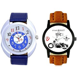 Royal Bullet And Almight Blue Round Dial SCK Combo Gallery Wrist Watch