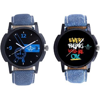 Attractive Blue Dial And Every Thinke Will Be Ok SCK Analogue Combo Watch