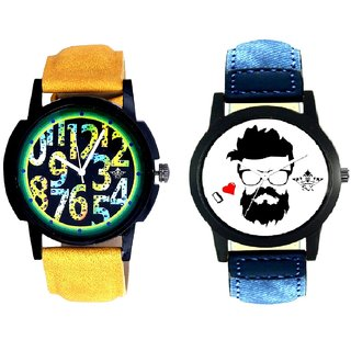 I Love Rock And Awesome Exclusive Digits Analog Men's Combo Wrist Watch