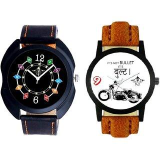 Royal Bullet And Fancy 3D Chain Look SCK Men's Combo Wrist Watch