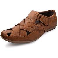 Bacca Bucci Mens Tan Velcro Sandals