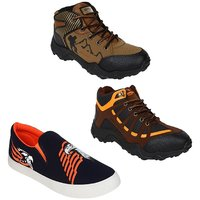 Chevit Men's Trio Pack Of 3 Casual Running Shoes (Sport