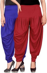 Culture the Dignity Blue,Red Lycra Dhoti Pants