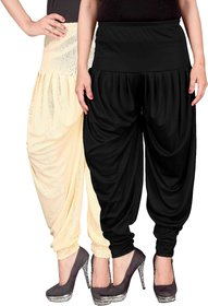 Culture the Dignity Cream,Black Lycra Dhoti Pants
