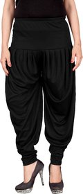 Culture the Dignity Black Lycra Dhoti Pants
