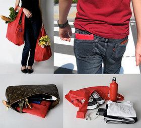 2pcs Waterproof Shopping Lightweight Tote Bag(Random Co
