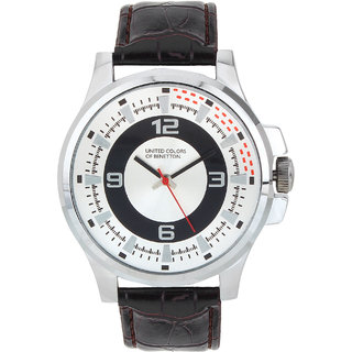 Buy benetton silver dial analog watch online get 84 off for Benetton watches