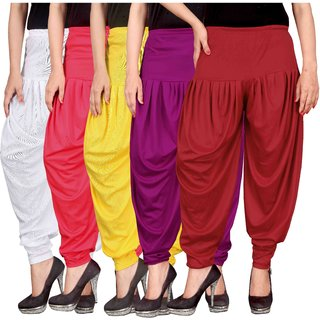 Culture the Dignity White,Pink,Yellow,Purple,Red Lycra Dhoti Pants